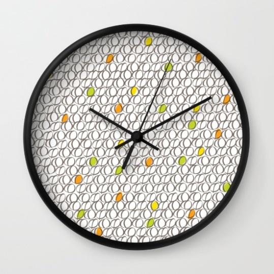 Wall Clock - Colourful Coffee Beans