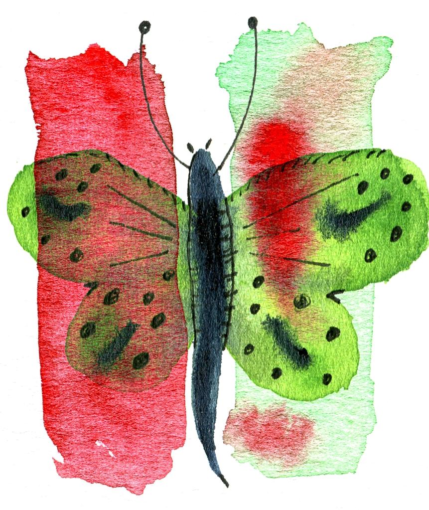 Butterfly Stripes_green