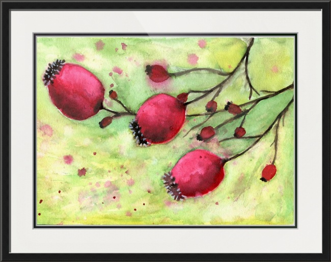 WinterBerries-Framed